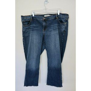 Torrid Blue Denim Boyfriend Raw Hem Jeans
